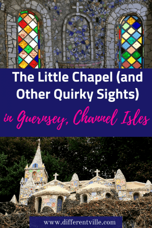 The little Chapel in Guernsey, the Channel Islands, is an amazing sight to see- but it's not the only quirky thing on this island. We found a heap of surprising things to do. #guernsey #thingstodoinguernsey #thechannelislands
