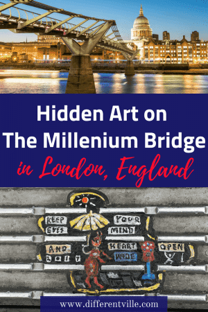 The Millennium Bridge is one the big sights to see in London, but it has a secret. There are hundreds of tiny paintings on its surface - and you'll never guess what they are made from. #streetart #londonstreetart #millenniumbridge