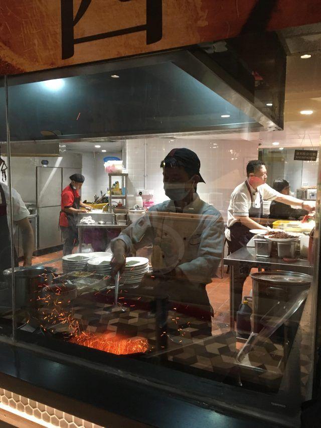 Cooking hokkein mee at foodie paradise Lot 10 Hutong Kuala Lumpur