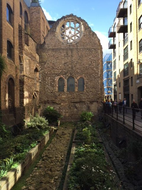 The ruins of the Palace of Winchester, one of London's hidden sights
