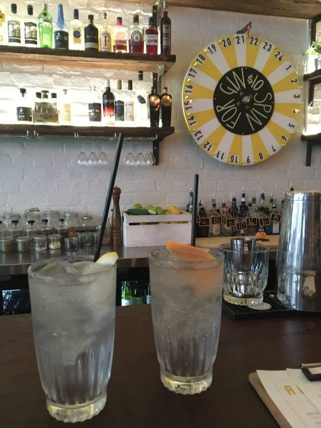 The Flour Factory makes it into my list of fun things to do in Perth because it has a wheel you spin for gin. Which type you get is determined by your spin.