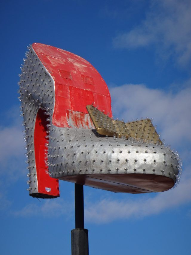 The silver slipper is one of the restored signs in the Neon Museum Las Vegas.