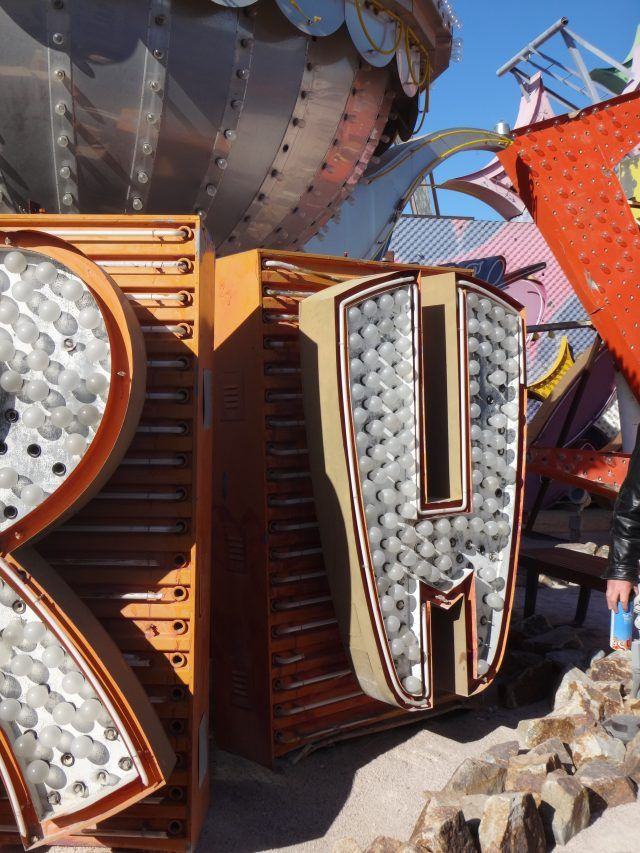 One of the things I love most about the Neon Museum, Las Vegas are the random old letters just lying around. It's a throwback to when these signs were being broken up for spare parts.