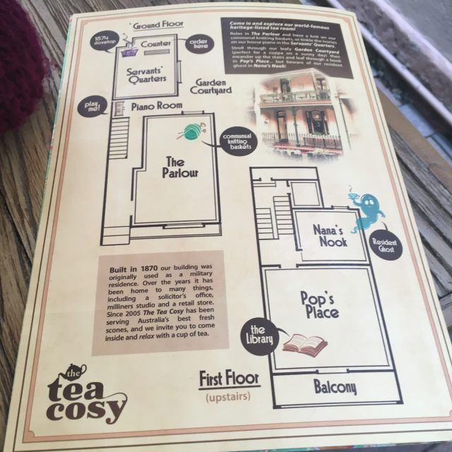 Want to spot the friendly ghost at the Tea Cosy Cafe, Sydney - here's the map