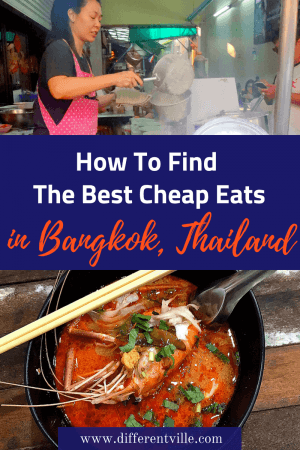 There is a lot of cheap food in Bangkok but good cheap food is harder to find - here's how we did it and some of our favourite cheap places to eat in Bangkok. #bangkok #bangkokrestaurants #bangkokstreetfood