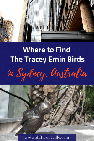 Artist Tracey Emin has installed 67bronze birds in Sydney as a kind of street art treasure hunt. Here's where to find them. #traceyemin #sydneystreetart #thingstodoinsydney