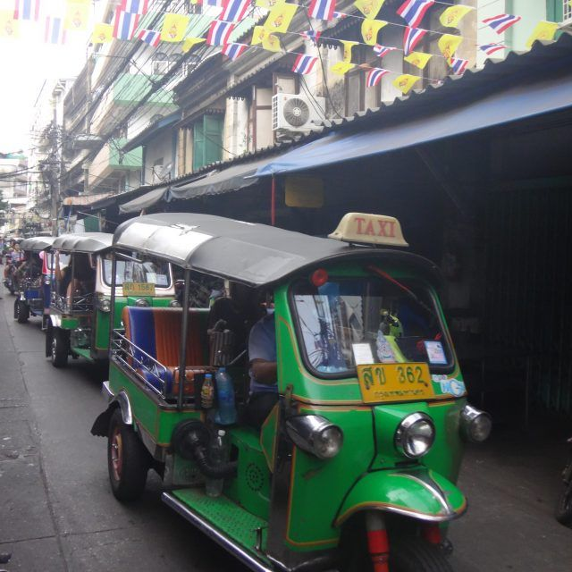 Riding in a tuk tuk is a must do on your first trip to Bangkok