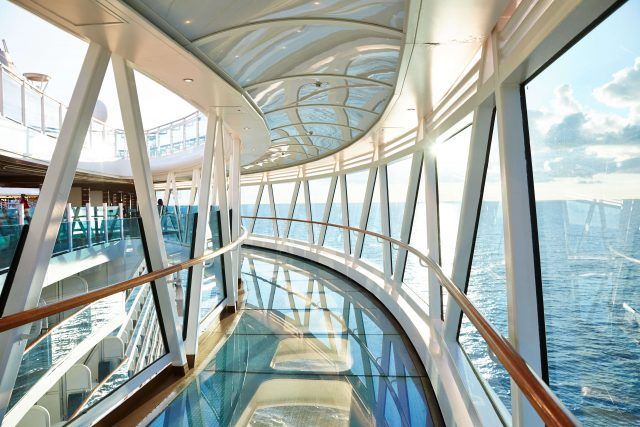 Majestic Princess Seawalk allows you to stand 'on top' of the sea