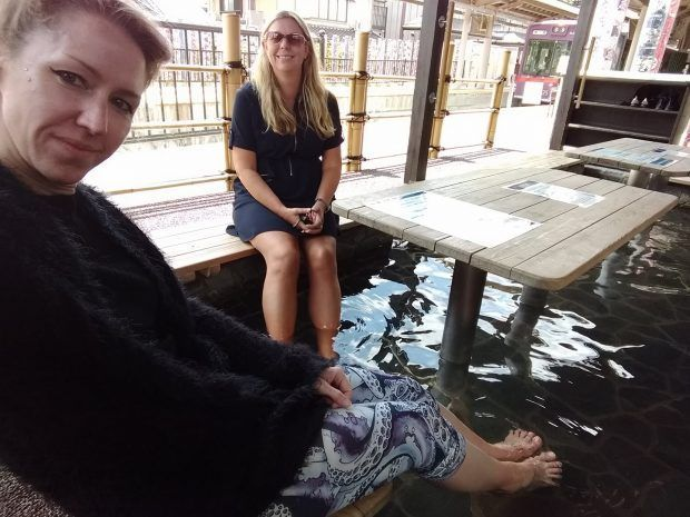 There's an onsen specially for sokaing your feet in the middle of Arashiyama station in Kyoto. Definitely one of the most unusual things to do in in Kyoto.