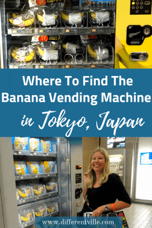 did you know that there's a banana vending machine in Tokyo's Shibuya? If finding that out just added it to your list of things to do in Japan, here's how to find it -and a few other fun vending machine things to know. #tokyo #thingstodointokyo #vendingmachines
