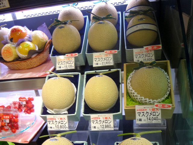Checking out the price of melons is definitely a unique thing to do in Tokyo - they can run into thousands of yen