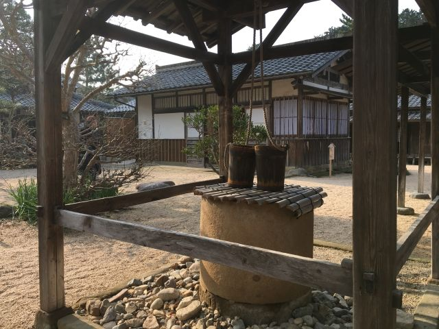 Old well in a traditional Samurai home - one of the things to see in Matsue Japan