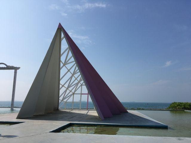 Triangular sculpture Cijiin Taiwan