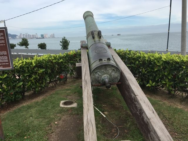 cannon pointing out to sea