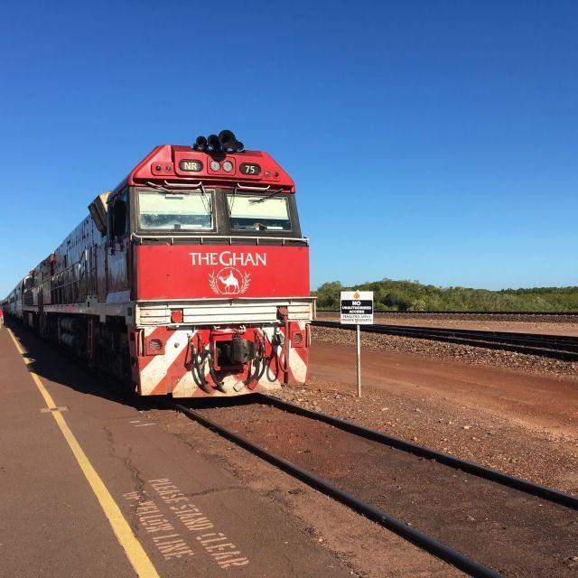 The Ghan train at Darwin station