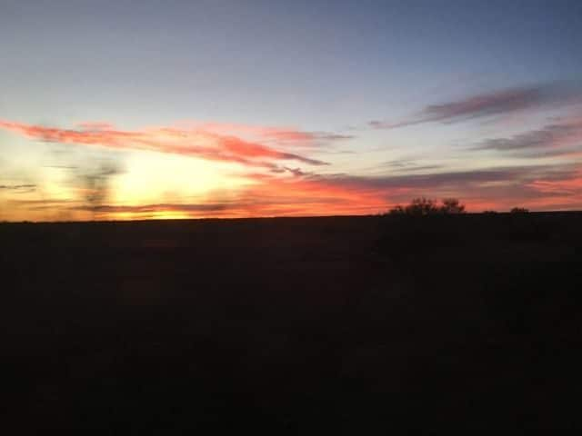 Sunrise from The Ghan