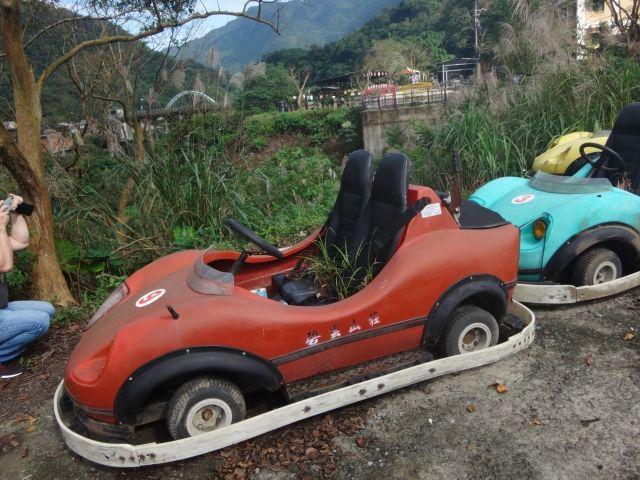 Abandoned dodgem style race car