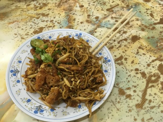 mee goreng noodles on a plate