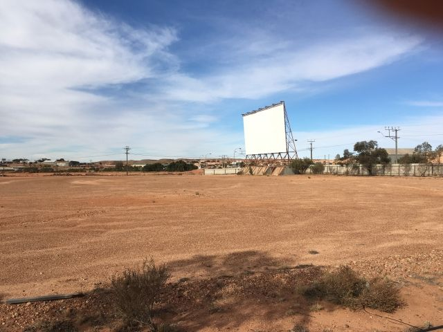drive in movie screen Coober Pedy