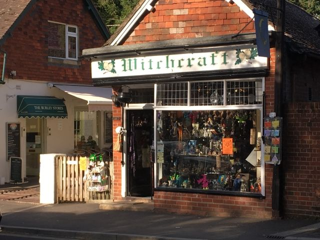 Front of a Witchcraft Shop in Burley, New Forest
