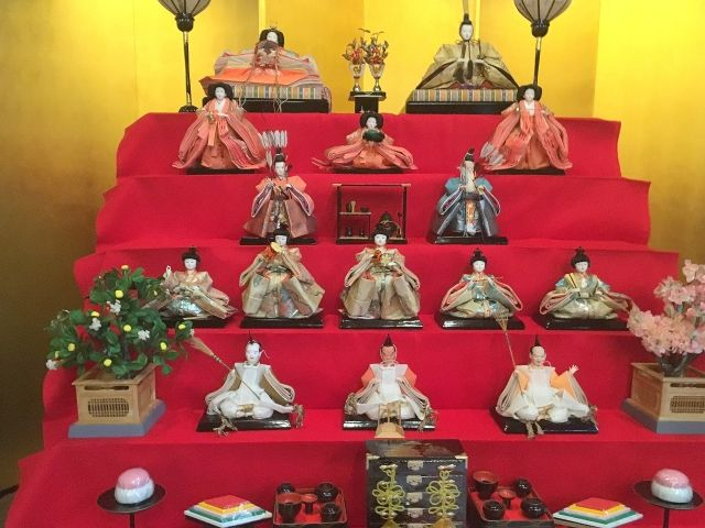 Hina dolls at Ito Dennon House, Kyushu for the doll festival of Japan