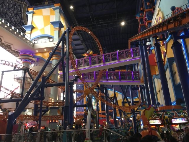 Roller coaster in the mall