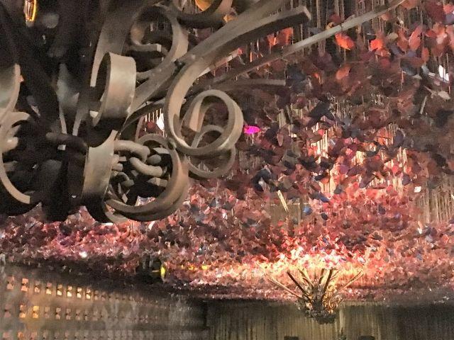 Ceiling coveredin butterflies at Iron Fairies, Kuala Lumpur