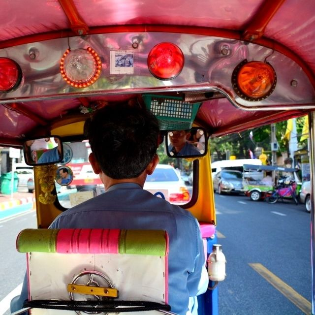 View from a Tuk tuk in Bangkok