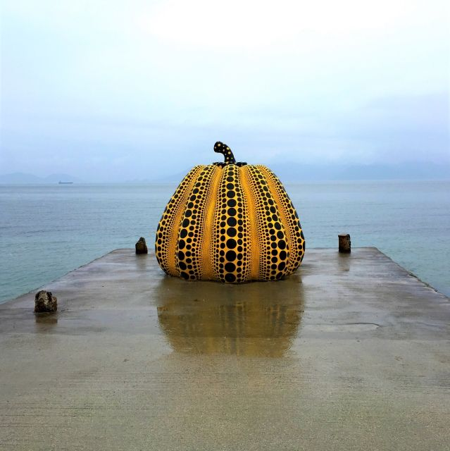 Naoshima Pumpkin art on Naoshima Island, Japan