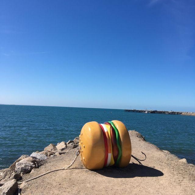 Hamburger Sculpture on the Granite Island Sculpture Trail, South Australia