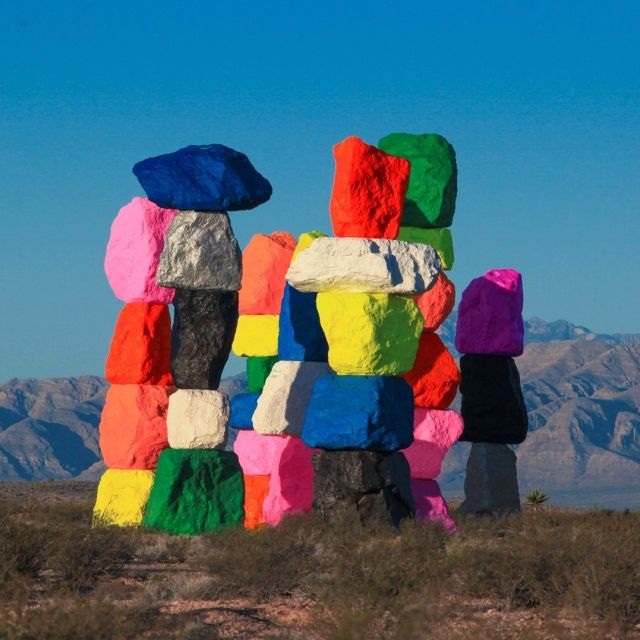 Seven Magic Mountains, Las Vegas are towers of coloured rocks - but they aren't the only fun art in Las Vegas