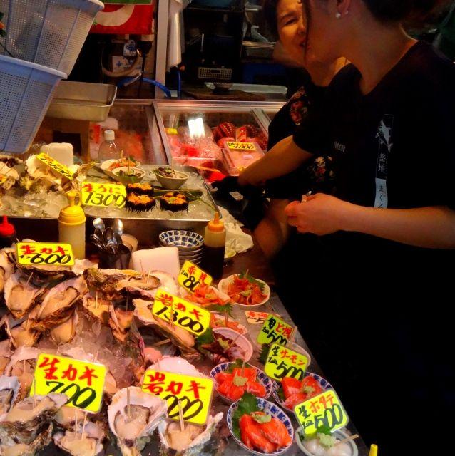 Shoppers at Tsukijji Outer Market, Tokyo