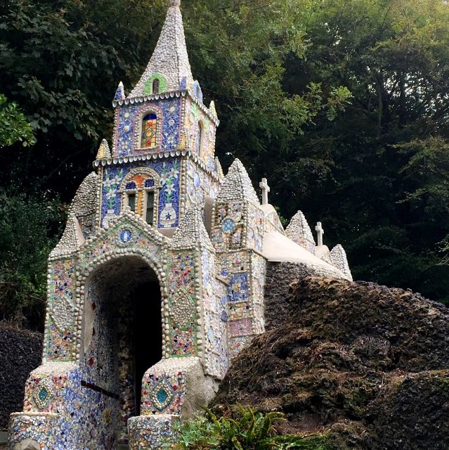 The Little Chapel is covered in shells and other decoration on Guernsey