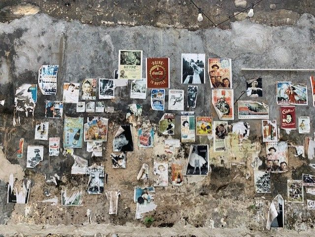 Wall of fake adverts in Penang