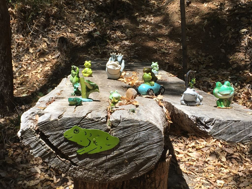 Frog statues at Frog Hollow near Perth