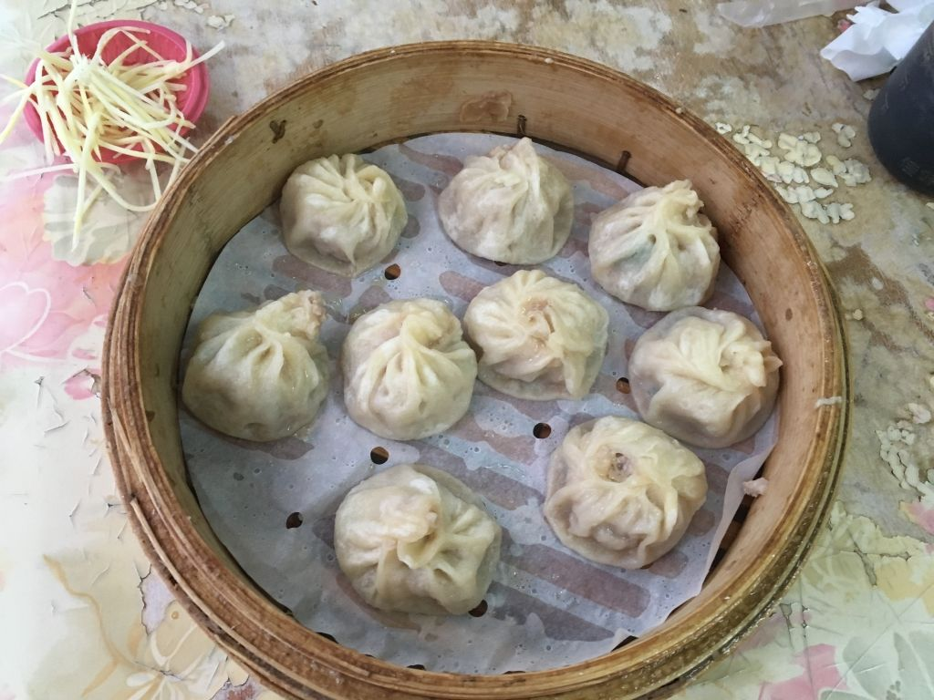 steamer full of dumplings from Yonghe, Kaohsiung