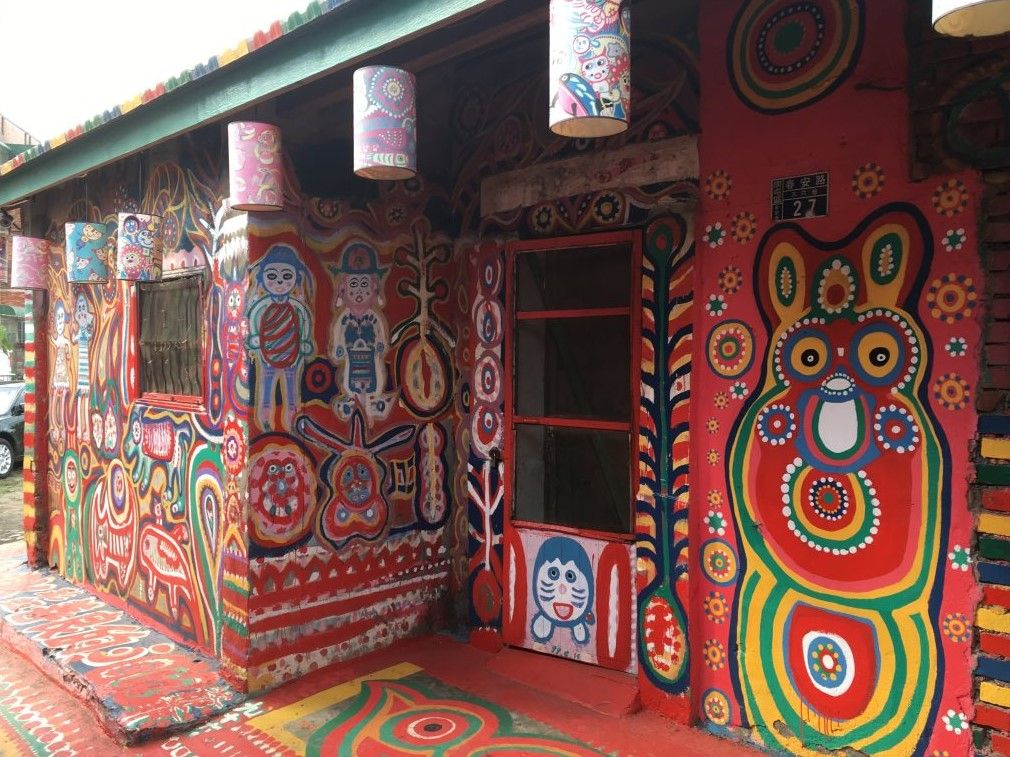 painted houses at Rainbow Village, Taichung