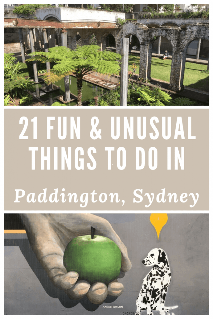 things to do in Paddington Sydney