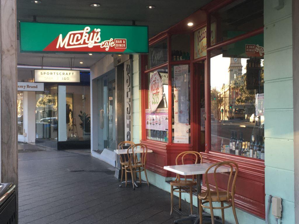 Outside of Micky's restaurant, Paddington Sydney
