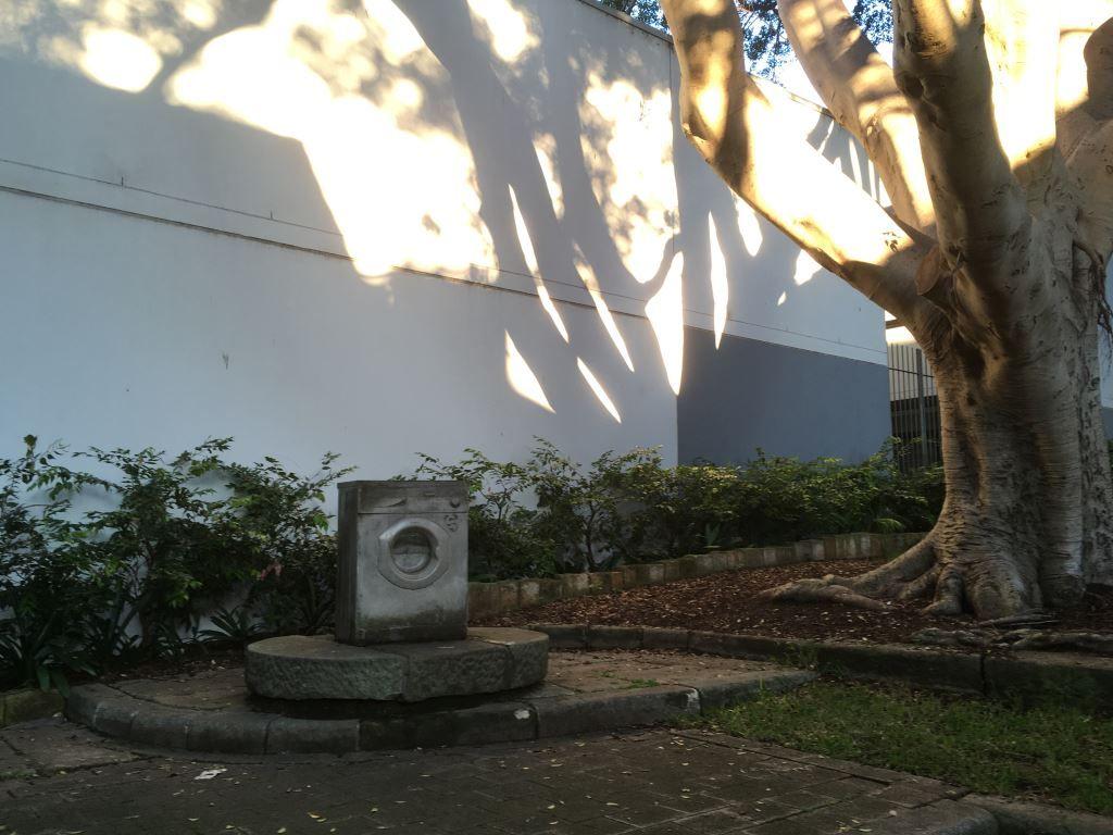 Concrete washing machine in a park in Paddington Sydney