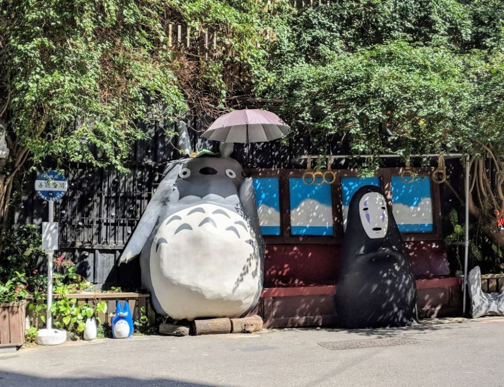 The Totoro bus stop in Taichung