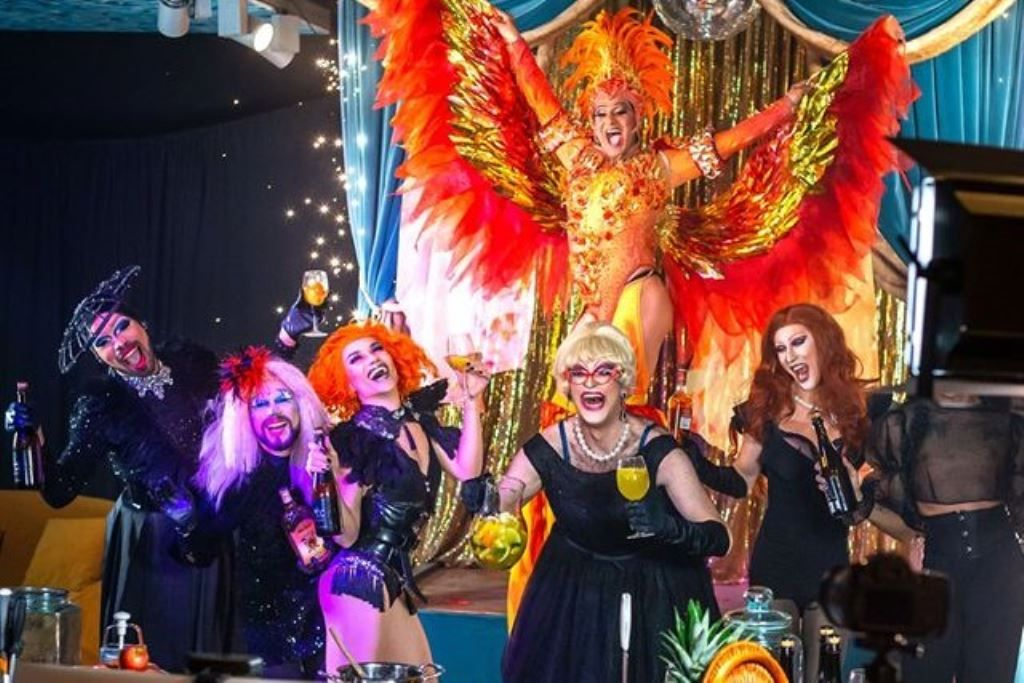 The Sangria with drag queens online experience on Airbnb Experiences