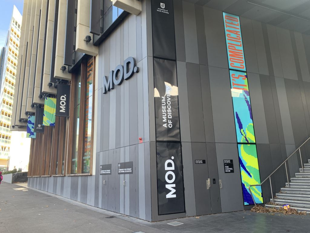 Exterior picture of MOD Museum in Adelaide